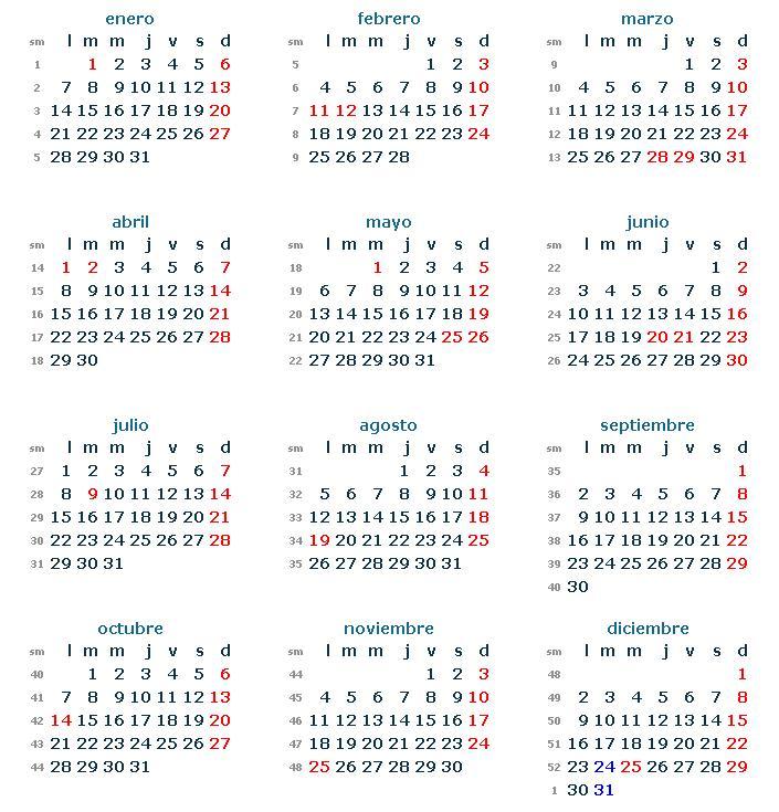calendario loboral 2015