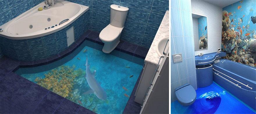 Quieres un oc ano en tu ba o coloca estos geniales pisos for Diseno banos 3d